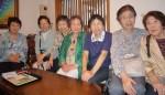 文章教室「グループM」15周年をお祝いして開かれた昼食会で