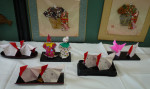 町会折り紙教室の皆さんの力作